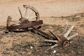 Old broken weels — Stock Photo
