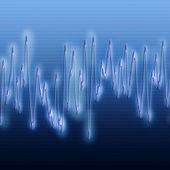 Extreme sound wave — Stock Photo