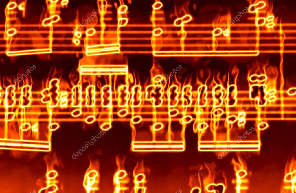 Música en llamas — Foto de Stock