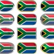 12 buttons of the Flag of South Africa — Stock Photo