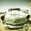 Old car in the desert — Stock Photo #1430288