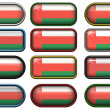 Twelve buttons of the Flag of Oman - Stock Photo