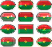 Flag of Burkina Faso — Stock Photo