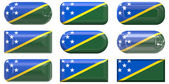 Buttons of the Flag of Solomon Island — Stock Photo