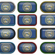 12 buttons of Flag of Nebraska — Stock Photo #1799933