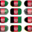 Twelve buttons of the Flag of afghanistan — Stock Photo