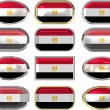 Twelve buttons of the Flag of Egypt — Stock Photo
