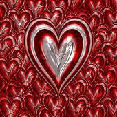 Metallic love heart — Stock Photo