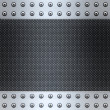 Carbon fibre and steel background — Stock Photo