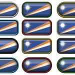 doze botões da bandeira das Ilhas marshall — Fotografia Stock  #1832901