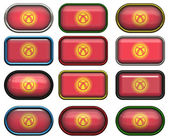 12 buttons of the Flag of kyrgyzstan — Stock Photo
