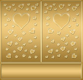 Two gold hearts — Stock Photo