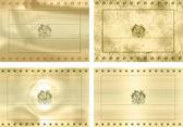 Four gold flags of Bolovia — Stock Photo