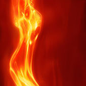 Abstract female fire — Stock Photo