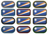 Twelve buttons of the Flag of Marshall Islands — Stock Photo