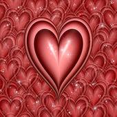 Coração cintilantes — Foto Stock