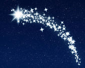 Christmas wishing shooting star — Stock Photo