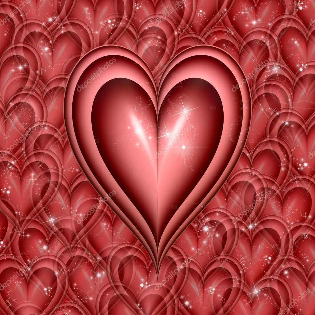 Valentines hearts all glittering and twinkling — Stock Photo #1832939