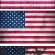 Grunge Flags of the United States — Stock Photo