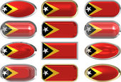 Twelve buttons of the Flag of East Timor — Stock Photo