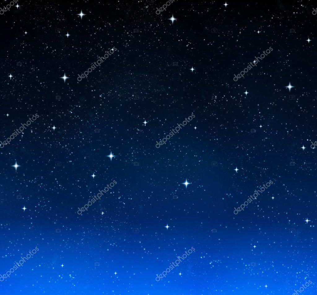 夜晚的天空的星星