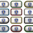 12 buttons of Flag of massachusetts — Stock Photo #1864752