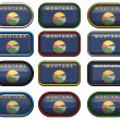 Stock Photo: 12 buttons of Flag of Montana