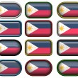 12 buttons of the Flag of Philippines — Stock Photo #1864838
