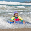 Girl in the waves — Stock Photo