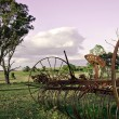 Stock Photo: Plow in paddock