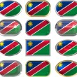 Twelve buttons of the flag of nambia — ストック写真