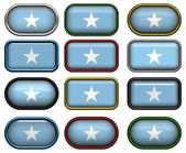 12 buttons of the Flag of Somalia — Stock Photo