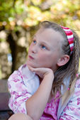 Wistful young girl — Stock Photo