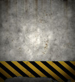 Old hazard wall — Stock Photo