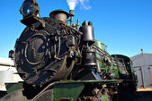 Close up of steam train — Stock Photo