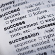 Definition of success — Stock Photo