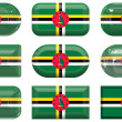 Stock Photo: Buttons of Flag of Dominica