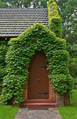 Vine covered church building — Stock Photo