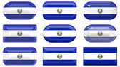 Buttons of the Flag of El Salvador — Stock Photo