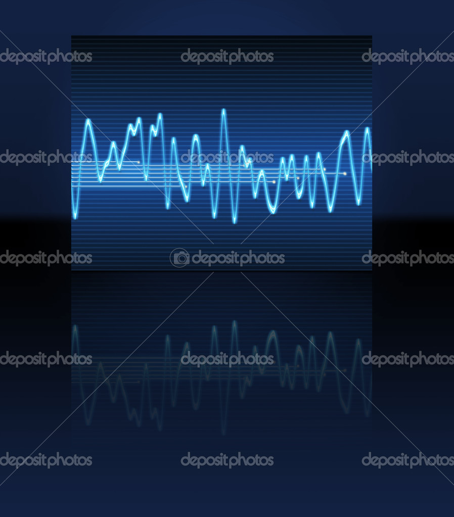Large image of an electronic sine sound or audio wave  — Stock Photo #1911511