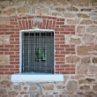 Stockfoto: Barred jail window
