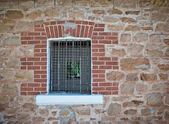 Barred jail window — Stock Photo