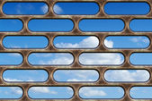 Blue sky through the bars — Stock Photo