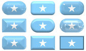 Nine glass buttons of the Flag of Somalia — Stock Photo
