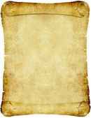 Vintage parchment paper scroll — Stock Photo