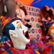Stock Photo: Clowns at funfair