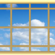 Perfect blue sky through the window — Stock Photo