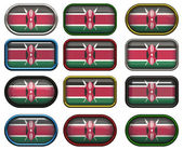 12 buttons of the Flag of Kenya — Stock Photo