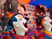 Clowns at the funfair — Stock Photo