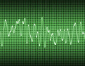 Electronic sine sound wave — Stock Photo